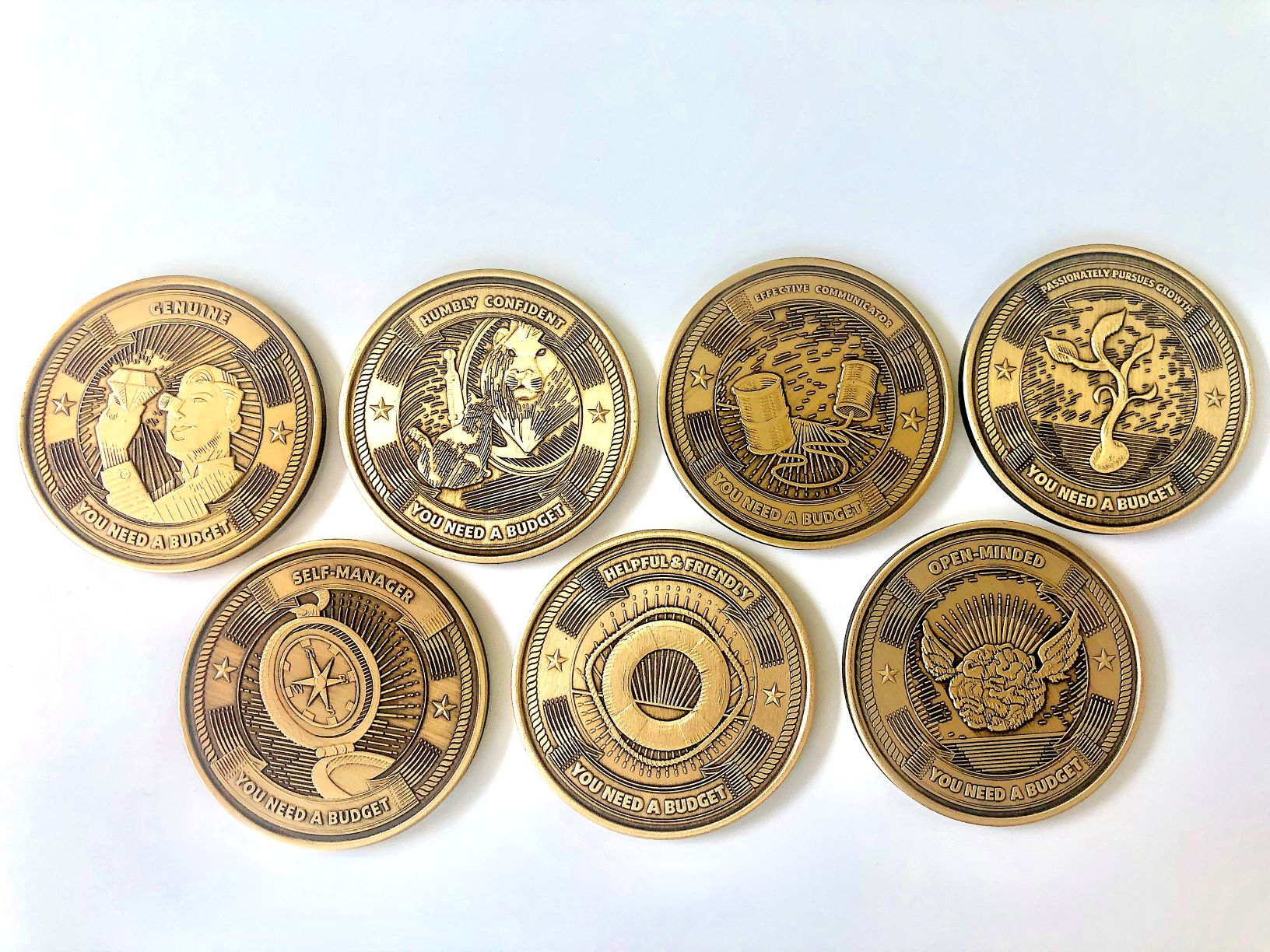 YNAB recognizes employees with custom medallions