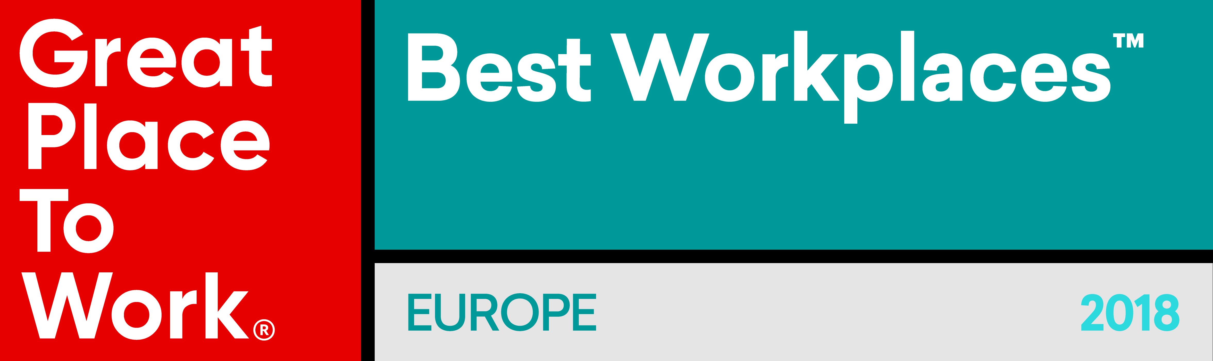 Najlepsze Miejsca Pracy w Europie 2018