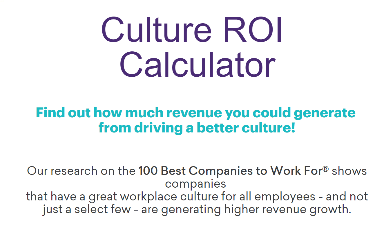 ROI - Great Place To Work United States